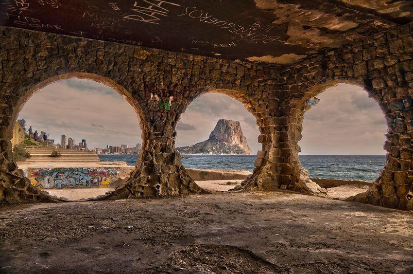 Ancient Civilization Architecture Cala Manzanera Calpe Alicante España Historic Old Ruin Outdoors Peñon Ifach Travel Destinations