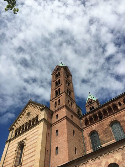 Speyer Speyer, Germany Speyerer Dom Dom Dome Religion Architecture Building Exterior Low Angle View Built Structure Sky Cloud - Sky Day History Outdoors Travel Destinations Place Of Worship No People Clock Tower City Nature Church
