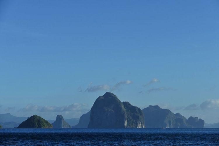 View Of El Nido Against Blue Sky