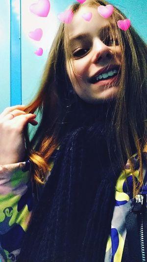 Portrait Multi Colored Headshot Young Women Beauty Beautiful Woman Long Hair Close-up