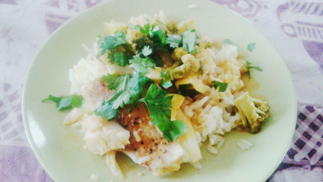 Food Healthy Food Rice Zuchinni  Fish Brocolli Delicious