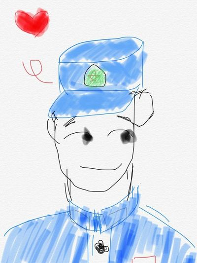 My boyfriend's self-portrait. Stick Figure Love Color Cute Man Cute Self Portrait Boyfriend Front View Day Dreaming