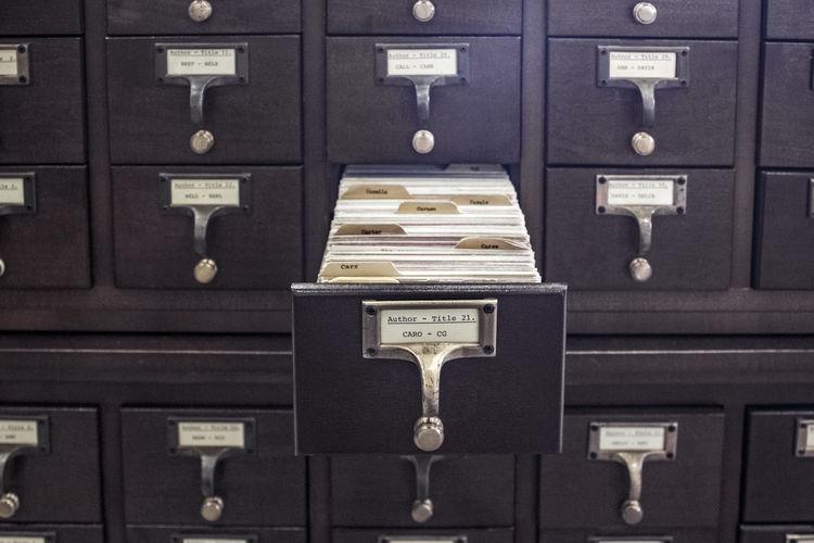 Detail shot of drawers