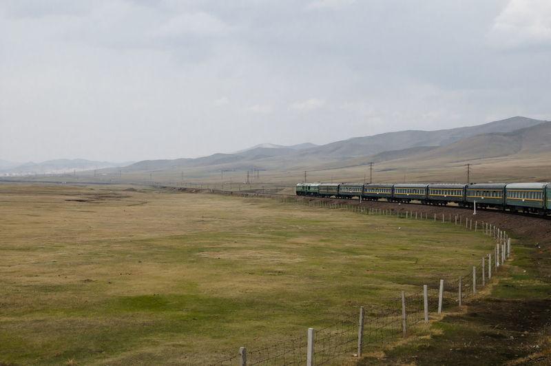 Trans Siberian Rail - Mongolia Mongolia Wagon  Mountain Rail Railway Steppe Train Trans Siberian Trans-siberian Transsiberian Railway