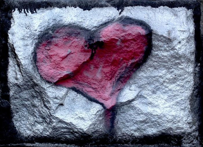 Graffiti Art Heart Shape Love No People Transfer Print Close-up Textured  Positive Emotion