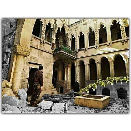 مُنَزّلُ فُيّ حَلُبُ الُقًدًيّمُة اتّعّبُهّ الُقًصّفُ لُاكنَ بُقًۍ عّلُۍ جَمُالهّ حًلَبً_أّلَقُدٍيِّمًةّ سِـوٌريِّأّ Syria  Aleppo . . ❤...