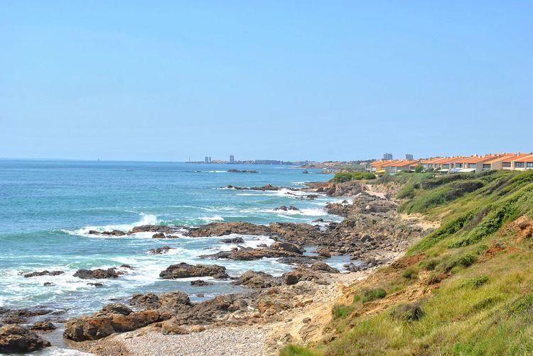 Atlantic Ocean Les Sables-d'Olonne Beach Beauty In Nature Clear Sky Frankreich Land Sea Sky Water