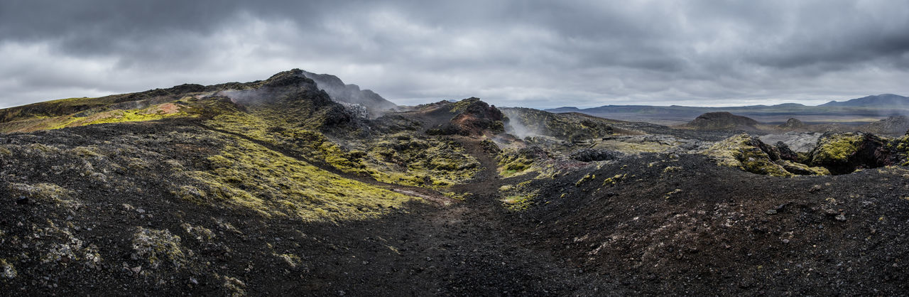 Iceland Island Lava Vulcano Mountain Cloud - Sky Sky Landscape Scenics - Nature Environment Mountain Range Nature Land Beauty In Nature No People Day Non-urban Scene Storm Outdoors Wilderness Overcast Remote Extreme Terrain Mountain Peak