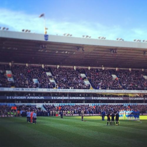 Minutes silence before the start of the game today THFC_Live THFC COYS Rememberancesunday lestweforget