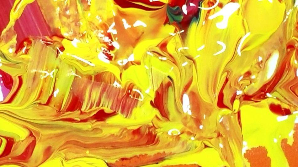 Happy Colors ArtWork Paint Mixed Colors Art Artist Texture Colors Red Yellow Shiny Art Photography Wet Paint Bright Colors Close Up Close-up Light Reflection Blue