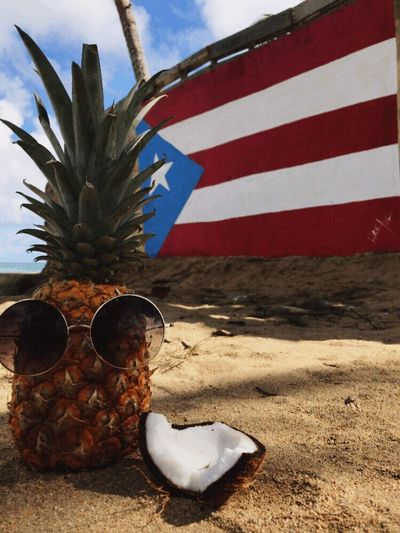 Flag Patriotism Cultures No People Outdoors Day Sky Close-up Beach Fruit Pineapple EyeEmNewHere Art Is Everywhere BYOPaper!