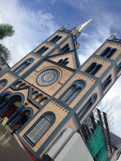 largest wooden structure of the caricom Architecture Building Christain Church Low Angle View Old Buildings Religion Restored Romancatholic Southamerica Suriname Tilt Tourism Travel Destinations Wooden First Eyeem Photo