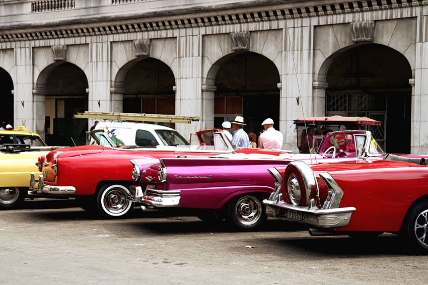 Been There. Transportation Car Land Vehicle Architecture Day Built Structure Red Outdoors Arch Real People Havana, Cuba Oldtown Oldcity Oldtimers Greatshot Likeit ♡