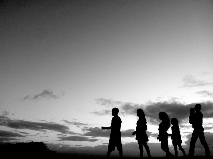 • S I L H Θ U Σ ΤΤ Σ • Sky Clouds Blackandwhite Puerto Rico Silhouette Old San Juan