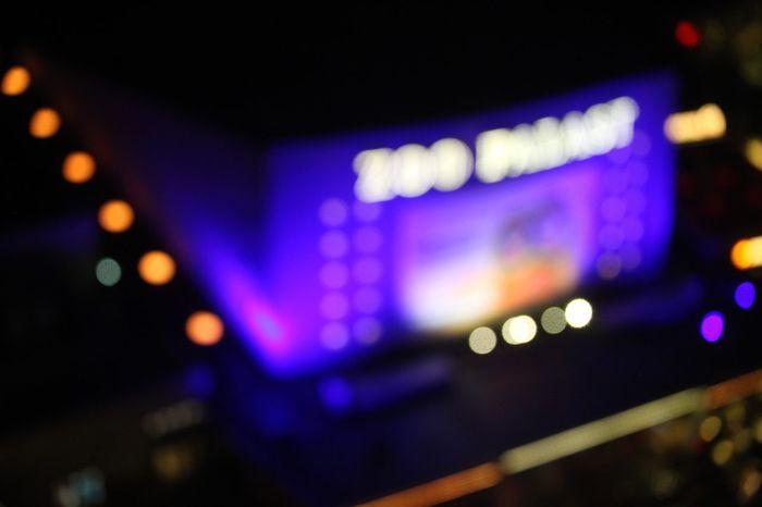 Illuminated Night Blue Defocused Lighting Equipment Dark Multi Colored Nightlife Outdoors Sky City Life Electric Light No People Lit Zoo Palast Berlin Bokeh Bokeh Scenics
