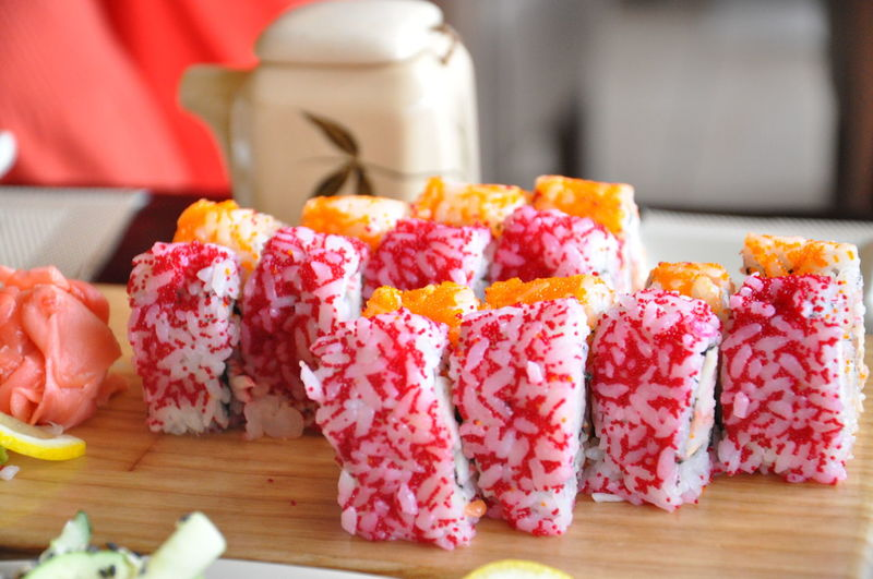 Japanese food restaurant Food And Drink Food Freshness Indoors  Ready-to-eat Close-up Asian Food Asian Food Restaurant Color Asian Food Japanese Food Asian Culture Japanese  Food Photography Foodpics Sushi Rolls Sushi Sushi Time Food And Drink Freshness Japanese  Indoors  Japanese