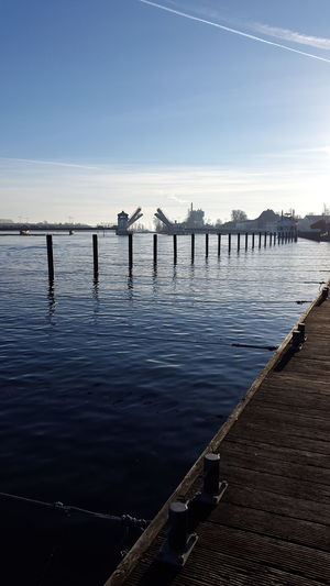 Water Blue Sea Outdoors Sky Accidents And Disasters Business Nature Business Finance And Industry Beauty In Nature Natural Disaster Day No People Baltic Sea Kappeln Daylight Habour Fishing Port Outside Photography The Way Forward Fishing Boat Bridge Water Reflections Water