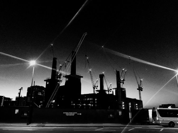 Black and white EyeEmNewHere Transportation Night Mode Of Transport Commercial Dock Freight Transportation Outdoors Illuminated Nautical Vessel Building Exterior No People Sky Architecture Built Structure Clear Sky Cargo Container City Shipyard Nature Postcode Postcards