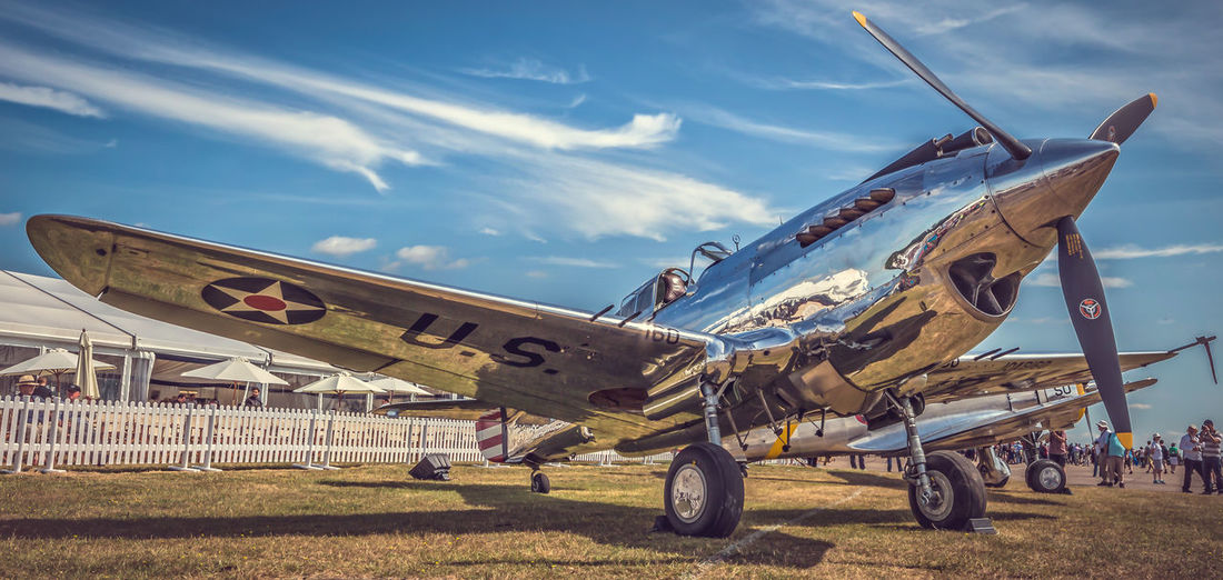 Curtis P40 at Duxford Curtis Curtis P40 Duxford P40 Silver  USAF Warbird WWII WwII Airplane WWII Planes