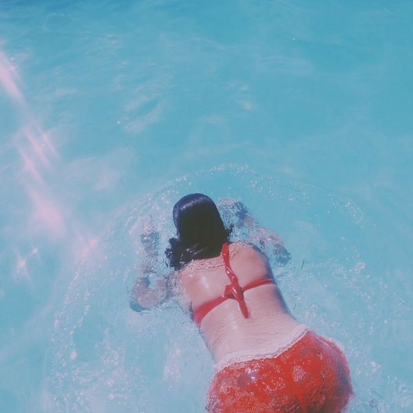 🌞🌊❤ Water Lifestyles Relaxation Vacations Day Blue Pool Poolparty Black Hair Braziliangirl Girl Power Bestoftheday Beachday