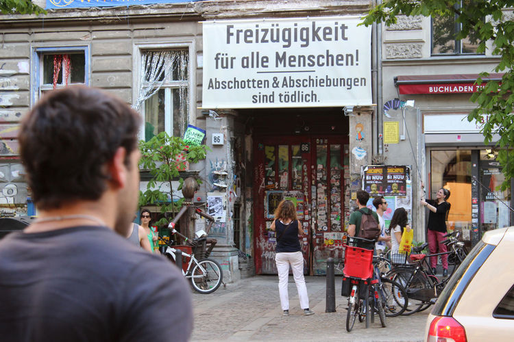 Wall - Building Feature Berlin Mitte Street Photography Streetphotography Berlin Street City Life Protest Freedom Freizügig Freizügigkeit