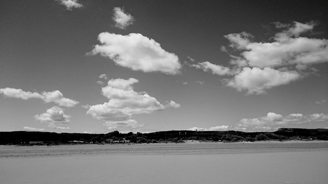 Sky And Clouds Beach Beachphotography Black And White