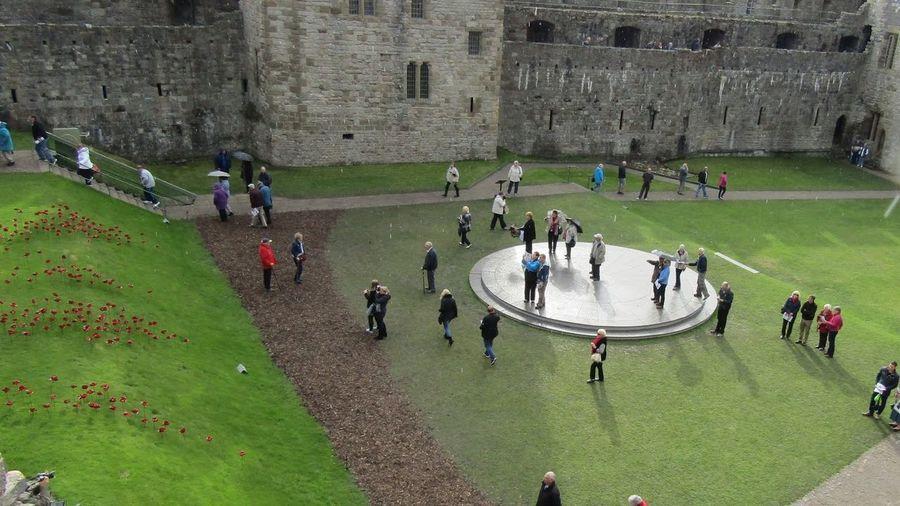 Looking Down Caernarfon Castle Wales❤ United Kingdom Castle