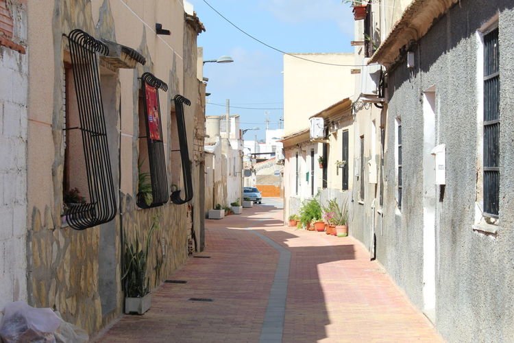 The streets of old formentera del segura spain, some of the buildings date back hundreds of years.