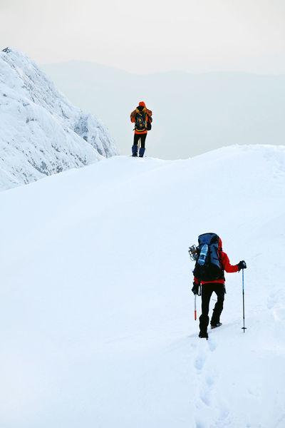 Adrenaline Alpinist Alpinists Climb Climbing Climbing A Mountain Cold Temperature Equipment Landscape Landscape_Collection Landscape_photography Nature Snow Sport Team Teamwork Travel Trekking Winter Winter