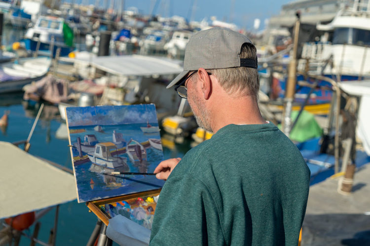 artist in action Art And Craft Artist Artist At Work Artist In Action Day Focus On Foreground Manual Worker Men Occupation One Person People Real People Skill  Working Workshop
