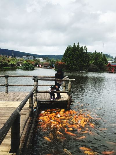 Floating Market Lembang Fish Sky Real People Cloud - Sky Full Length Water Day Tree Nature Leisure Activity Beauty In Nature People Women River Outdoors