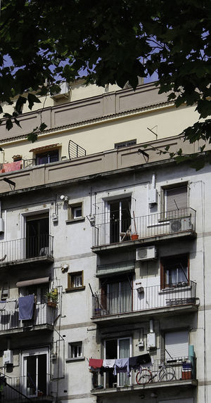 Barcelona Popular Housing Architecture Balconies Balcony Building Exterior Built Structure Day Low Angle View No People Outdoors Tree Window