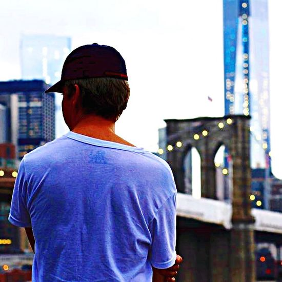 The Traveler - 2015 EyeEm Awards NYC Manhattan Broklyn Bridge
