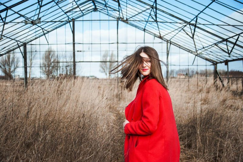 Greenhouse Sensitive Happy Red Woman Girl Nature Women Who Inspire You Portrait The KIOMI Collection Let Your Hair Down