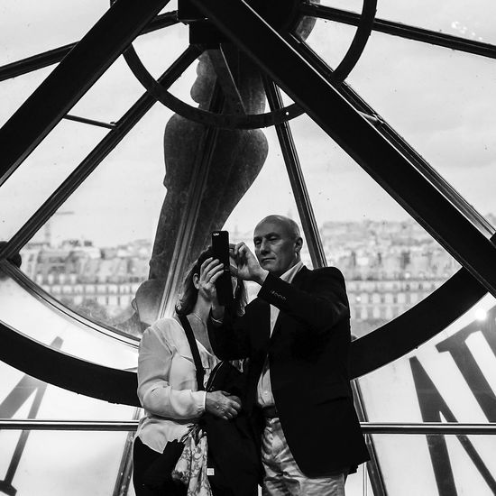 Selfie with The Clock Watch The Clock Clock Streetphotography Monochrome Shades Of Grey