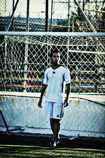 Playing Football Fun Afternoon