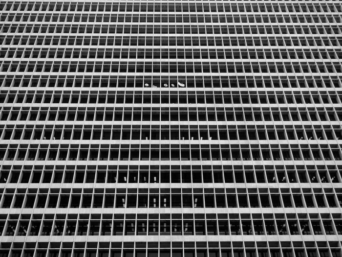 Windows Architecture Building Exterior Built Structure City Window Repetition Office Building City Life Streetphotography Blackandwhite Boxes Los Angeles, California Low Angle View Olympus Vscocam Structure Lines