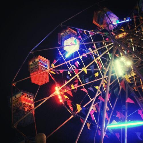 Ferris Wheel Night Lights City Lights Circus