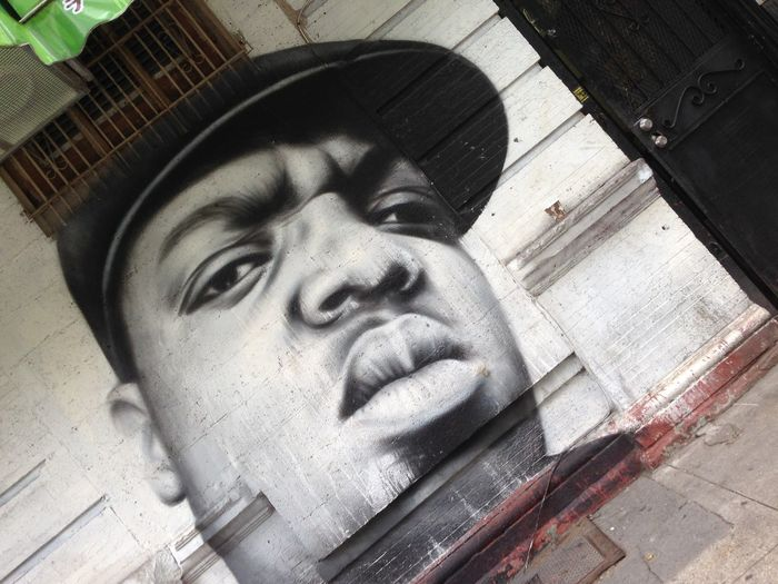 B.I.G. Biggy Biggysmalls Brooklyn Close-up Day Human Representation Male Likeness Mo Money Mo Problems Modern Art No People Notorious B.I.G  Notorious B.I.G. Outdoors Rip Sculpture Statue Urban Art