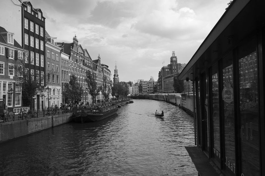 Amsterdam Archineos B&n B&w Bianco E Nero Black And White Blanco Y Negro Canal Cityscape Holland Koningsplein Monochrome Netherlands Outdoors Ugo Villani