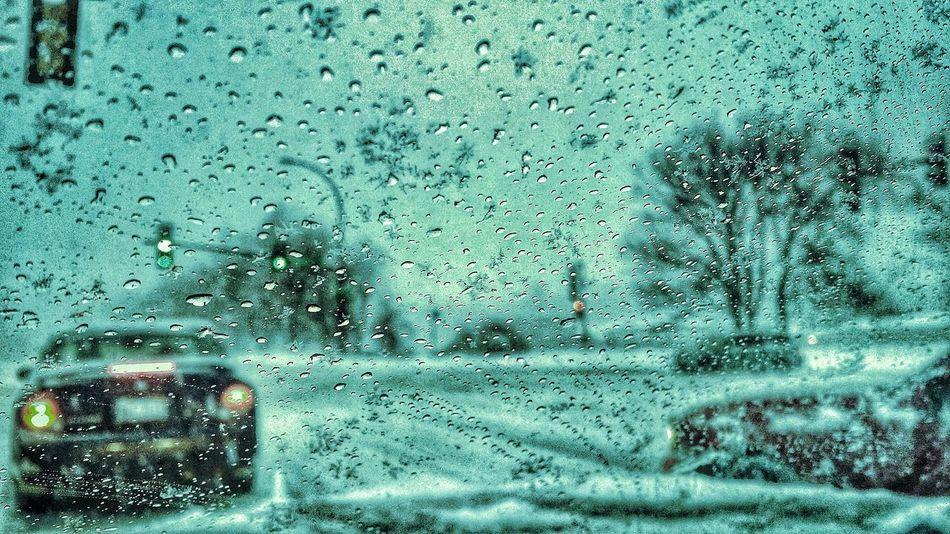 Winter Snow ❄ Windsheild TrafficWater Ice Traffic Intersection Focus On Foreground Eyeem Photo
