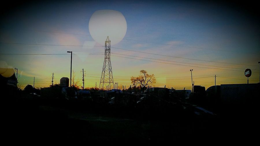 Silhouette Dramatic Sky Sunset No People Sky Fuel And Power Generation Electricity Pylon Beauty In Nature Electricity  Nature Cloud - Sky Outdoors Tree EyeEm Selects