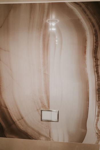 Indoors  No People Absence Simplicity Curtain White Color Bathroom Single Object Home Interior Technology Architecture Domestic Room Human Representation Domestic Bathroom Art And Craft Creativity Day Lighting Equipment Representation Electric Lamp