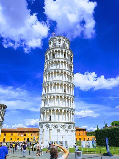 Cloud - Sky Architecture Travel Destinations Sky History Tourism Built Structure Low Angle View Building Exterior Outdoors City Day Leaning Tower Of Pisa