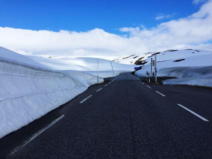 Summer in Norway❄️❄️❄️❄️ Summer ☀ Norway ✌ Norwegen Roads Snow ❄