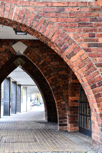 Arcade Arch Architecture Bremen Bricks And Stones Bricks In The Wall Built Structure Day Hoffi99 Indoors  No People Pillars