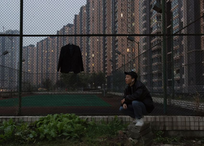 2018-11-20 Sitting Architecture Sadness One Person Men Adult Built Structure