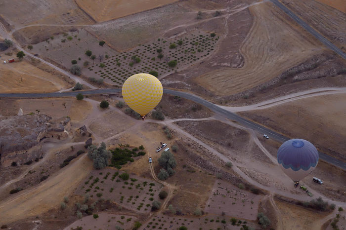 Hot Air Balloon Ride Balloon Rides Aerial View Ball Cappadocia Hot Air Ballons Cappadocia/Turkey Circle Creativity Geology Geometric Shape Hotairballoons Landscape Physical Geography Round Sunrise Surface Level Tourism Tourist Attraction  Tourist Destination Tourists Tranquility