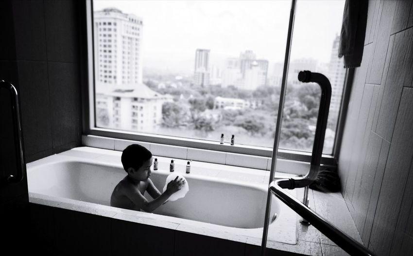 Bubble bath Window One Person Huaweip9ph Playful Bathtub