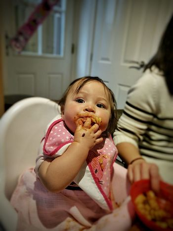 Hungry? Chubbycheeks Check This Out Beautiful Family Nexus6P Baby Enjoying Life Messy Face